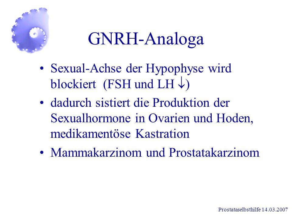 Prostataselbsthilfe 14.03.2007 Wie wirken Hormone? Meßorgan Hormon produzierendes Organ + Organismus + -