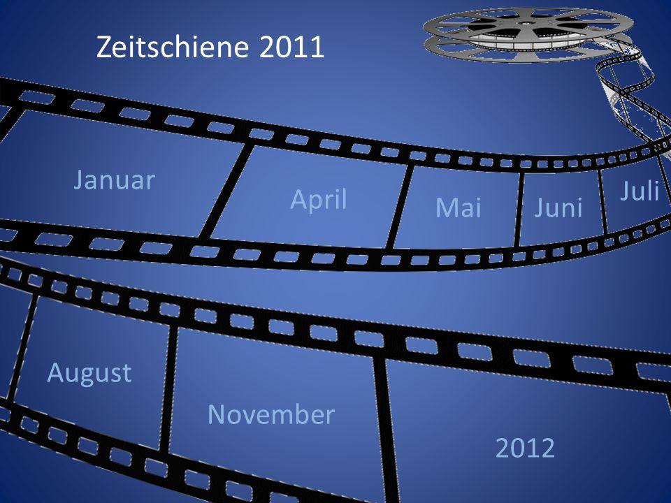 Januar April MaiJuni Juli August November 2012 Zeitschiene 2011
