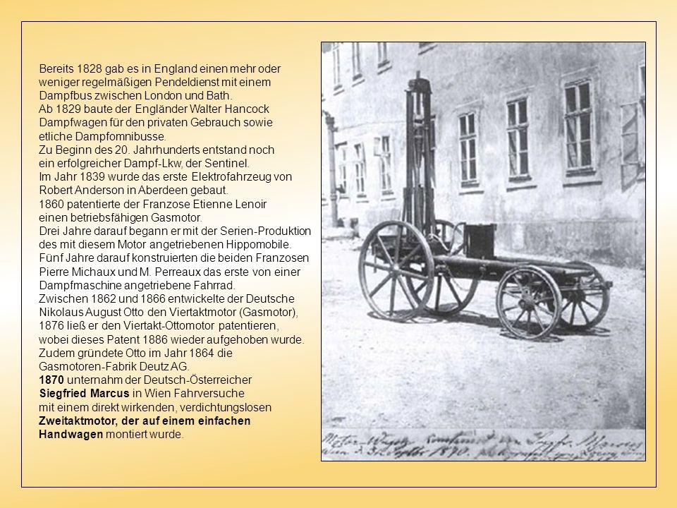 Im 19. Jahrhundert Im 19. Jahrhundert wurde eine Vielzahl an Dampfautomobilen gebaut. Zudem experimentierten Erfinder und Ingenieure in ganz Europa mi