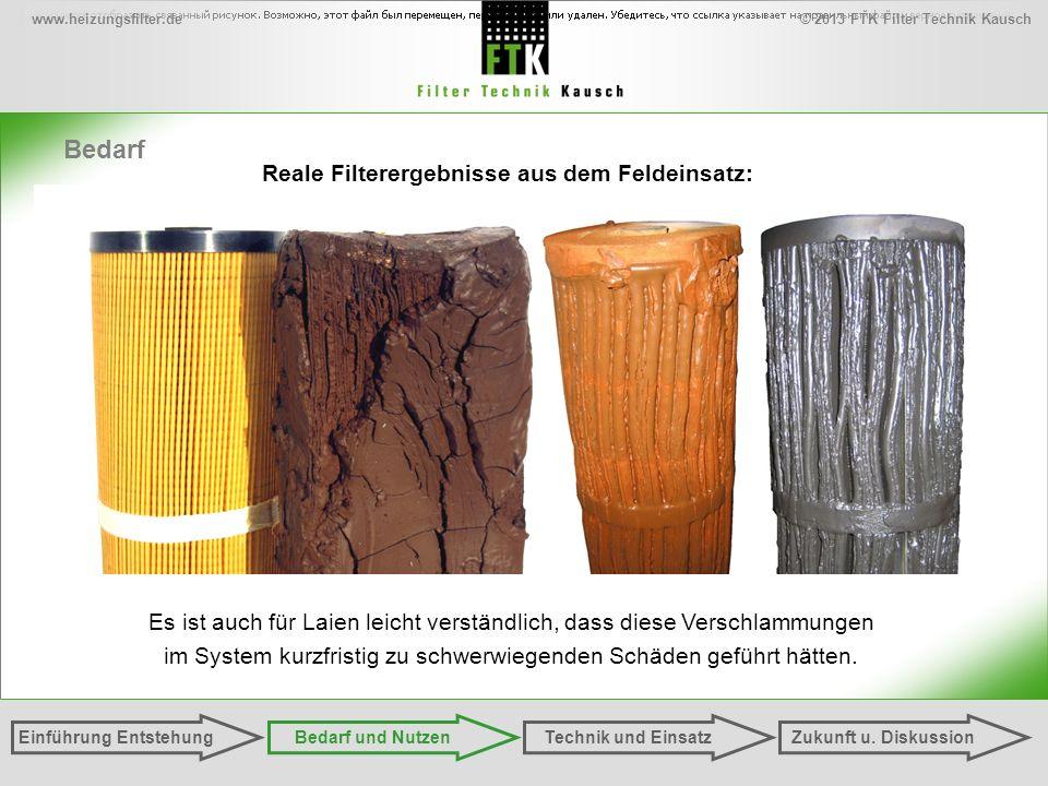© 2013 FTK Filter Technik Kauschwww.heizungsfilter.de Einführung EntstehungZukunft u. DiskussionTechnik und EinsatzBedarf und Nutzen Es ist auch für L