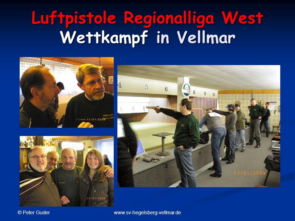 © Peter Guder www.sv-hegelsberg-vellmar.de Luftpistole Regionalliga West Wettkampf in Vellmar