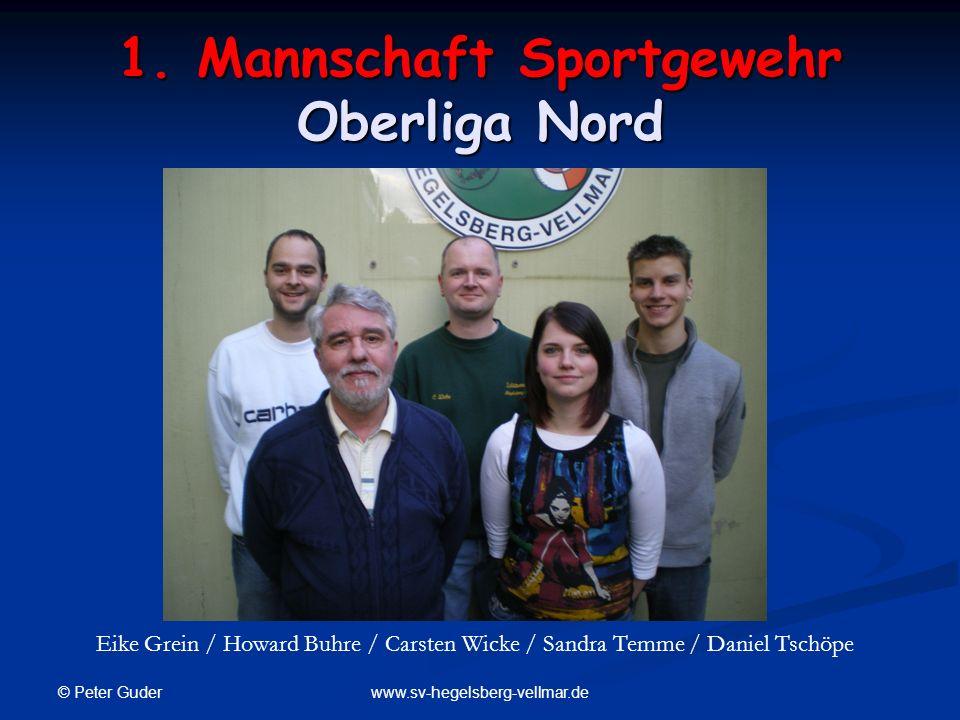 © Peter Guder www.sv-hegelsberg-vellmar.de 1. Mannschaft Sportgewehr Oberliga Nord Eike Grein / Howard Buhre / Carsten Wicke / Sandra Temme / Daniel T