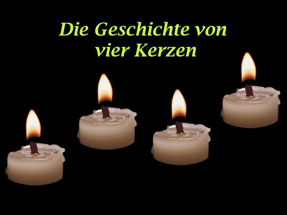 Die Geschichte von vier Kerzen