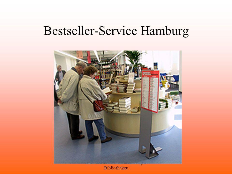 Innovative Einnahmeerzielung in Bibliotheken Bestseller-Service Hamburg