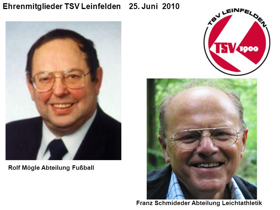 Ehrenmitglieder TSV Leinfelden 25.