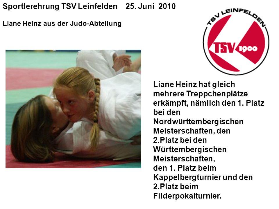 Sportlerehrung TSV Leinfelden 25.