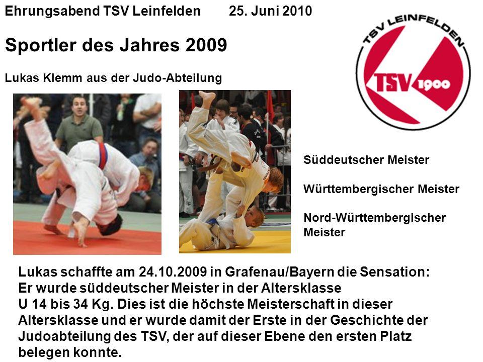 Ehrungsabend TSV Leinfelden 25.