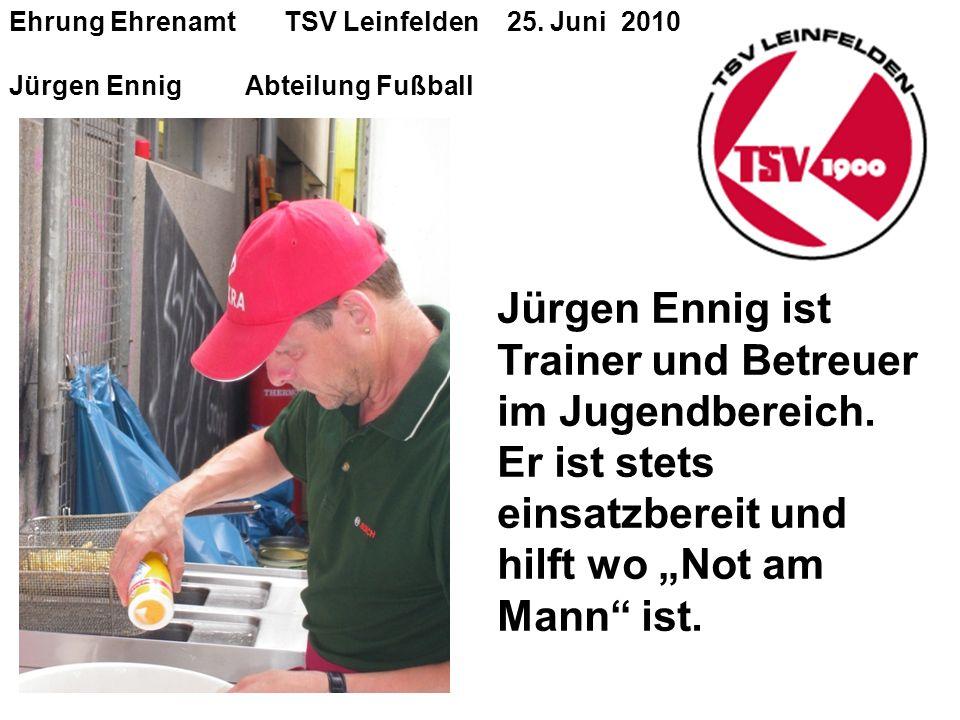 Ehrung Ehrenamt TSV Leinfelden 25.