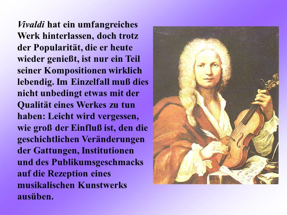 Der Grund für die Beliebtheit von Vivaldis Violinkonzerten Le Quattro Stagioni (Die Vier Jahreszeiten) liegt wohl auch darin, dass die Musik so verstä