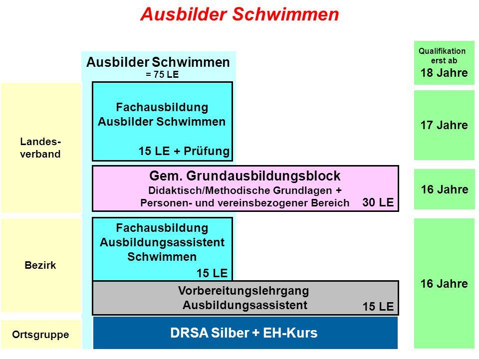 Info-Tour Ausbildung 2010 / DLRG LV Baden e.V. Ausbilder Schwimmen DRSA Silber + EH-Kurs Gem. Grundausbildungsblock Didaktisch/Methodische Grundlagen