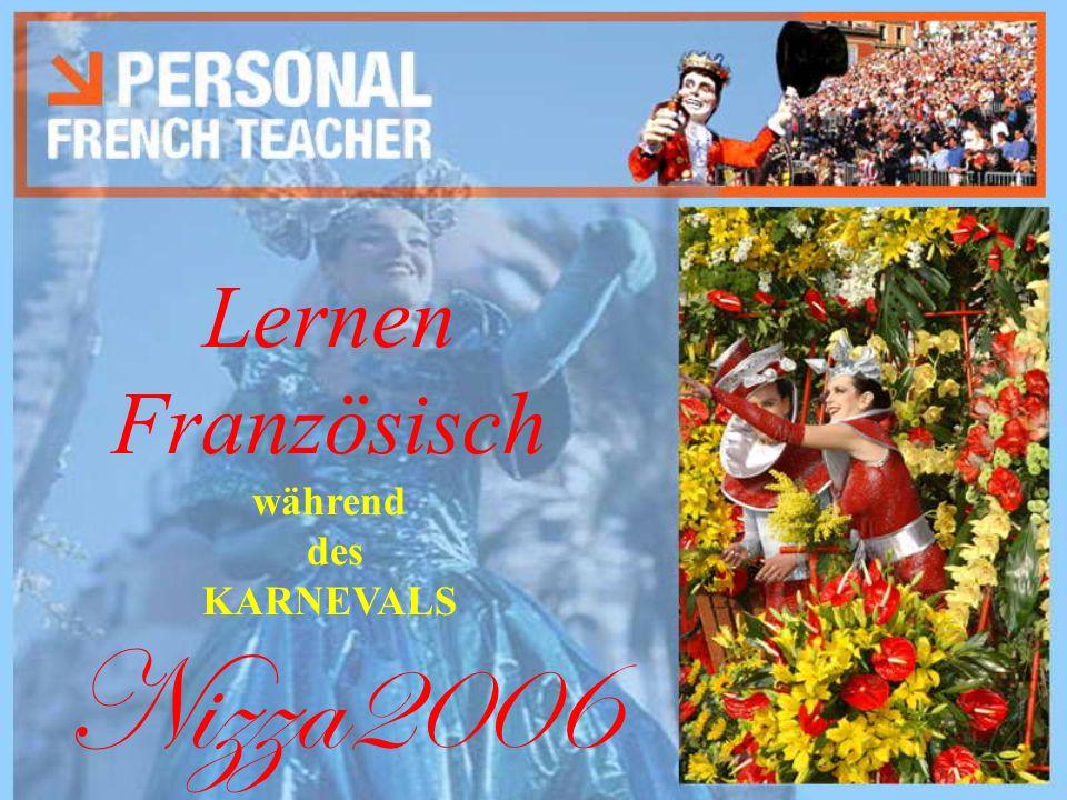Lernen Französisch während des KARNEVALS Nizza2006