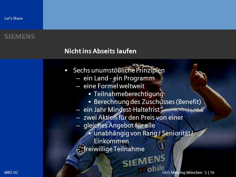 s Vielen Dank GEO Meeting München 16 | 16MRZ-02 Jürgen Siebel +49 89 636 36727 juergen.siebel@siemens.com s