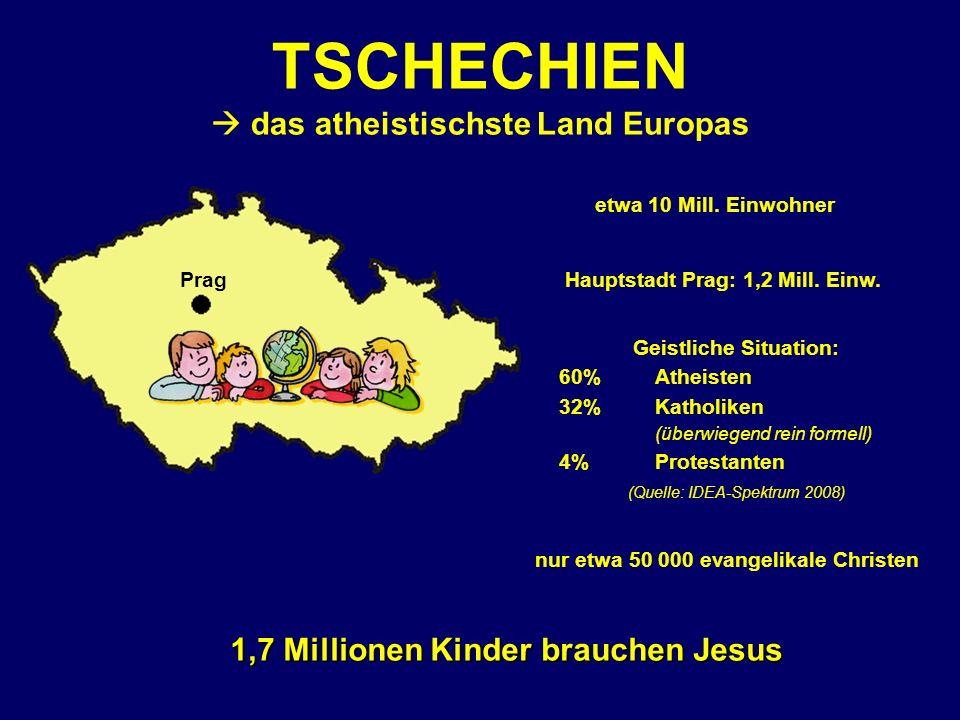 Prag TSCHECHIEN das atheistischste Land Europas etwa 10 Mill.
