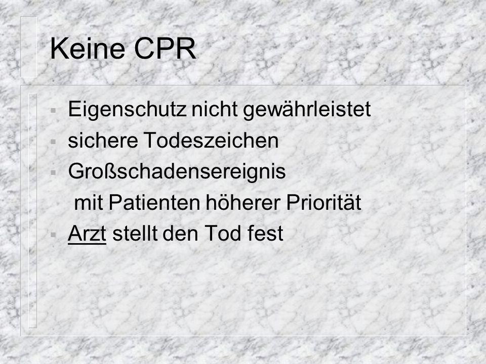 Eigenschutz - Gefahren Strom Fahrzeuge Züge Gifte (v.a. Gase, z.B. CO) Waffen (z.B. Geiselnahme)...
