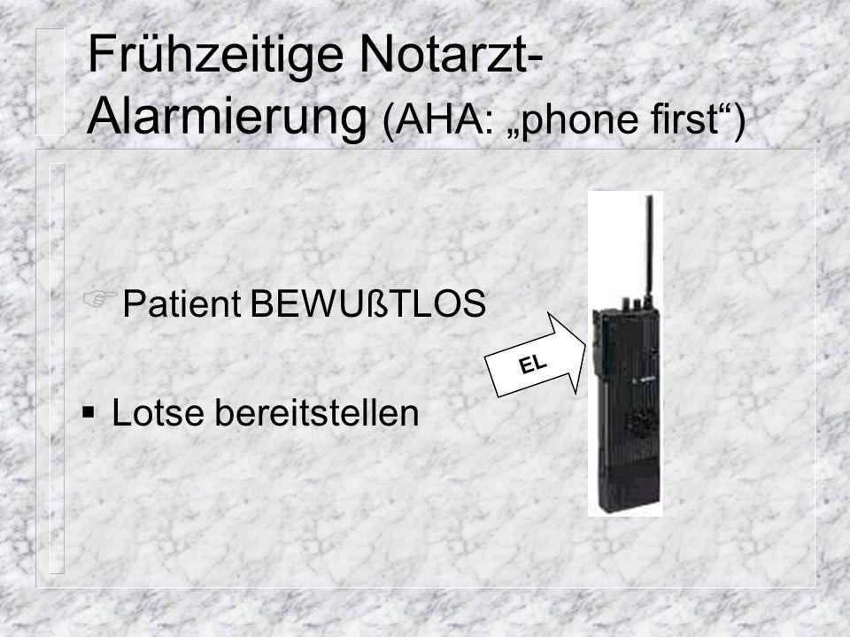 Beatmungsbereitschaft (durch Helfer 2) (Helfer 1: Diagnostischer Block)