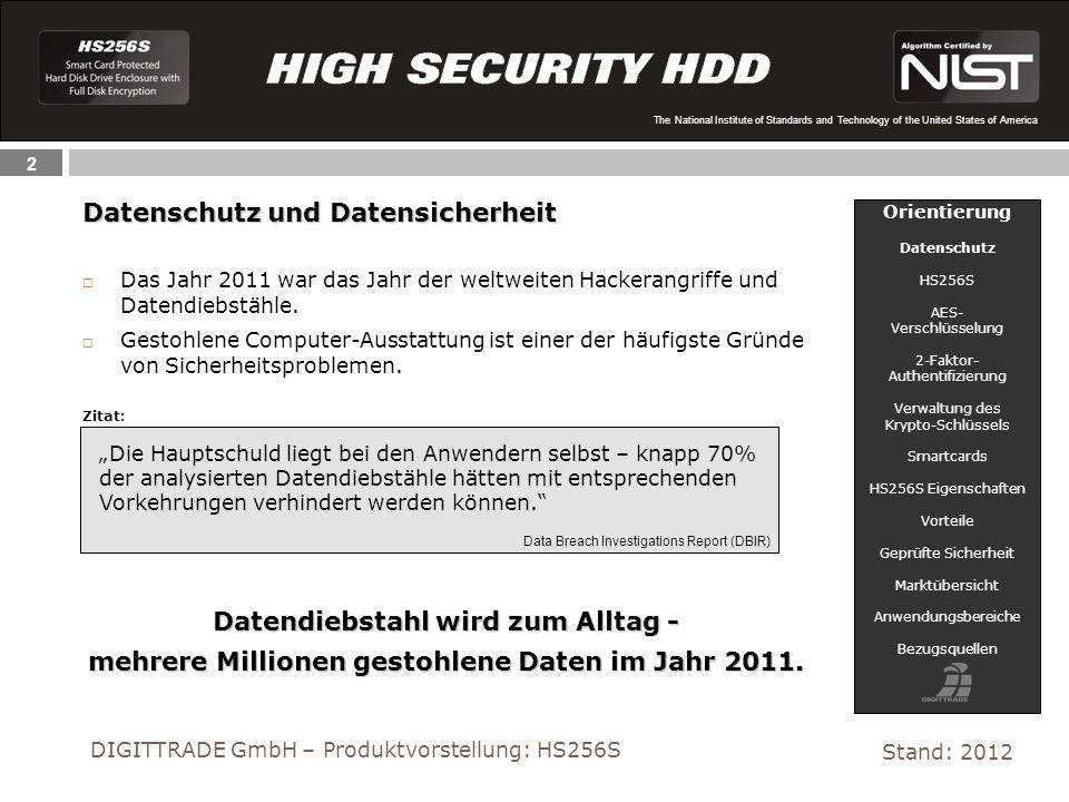 2 The National Institute of Standards and Technology of the United States of America Datenschutz und Datensicherheit Das Jahr 2011 war das Jahr der we