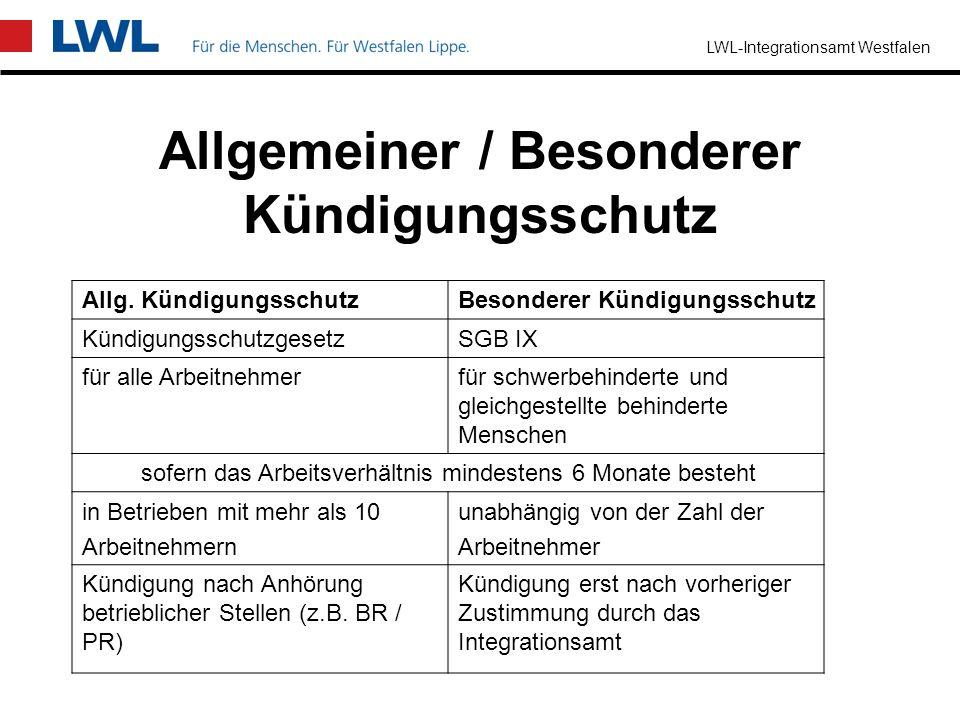 LWL-Integrationsamt Westfalen Was bringt BEM dem Arbeitnehmer ? rechtzeitige Durchführung notwendiger Maßnahmen –technische Arbeitsplatzgestaltung –le
