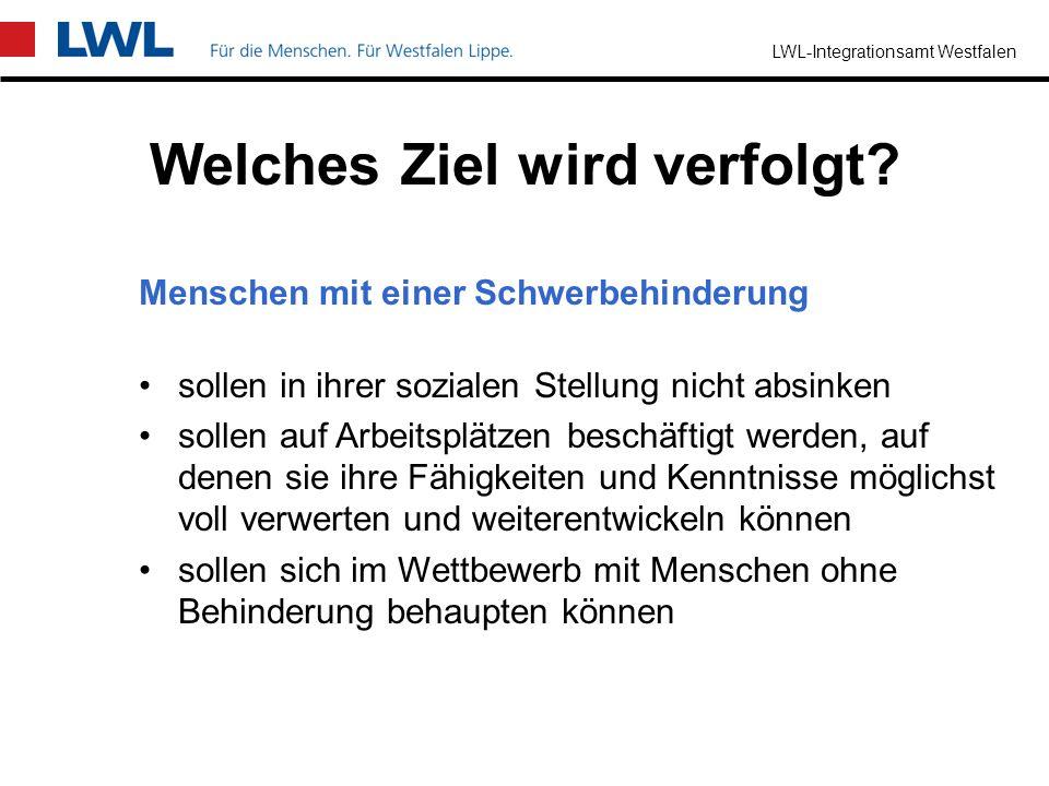 LWL-Integrationsamt Westfalen Was sind begleitende Hilfen im Arbeitsleben? Beratung und/oder Geldleistungen für Arbeitgeber und Menschen mit einer Sch