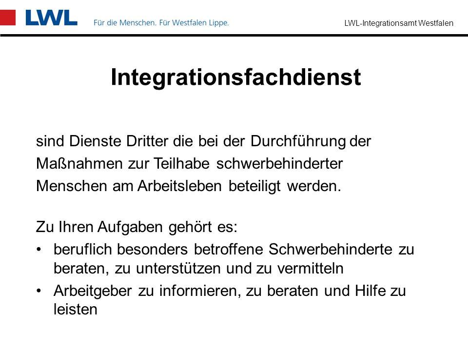 LWL-Integrationsamt Westfalen Wer kann Sie beraten? Sachbearbeiter/-innen im LWL-Integrationsamt Westfalen örtliche Träger des Schwerbehindertenrechts
