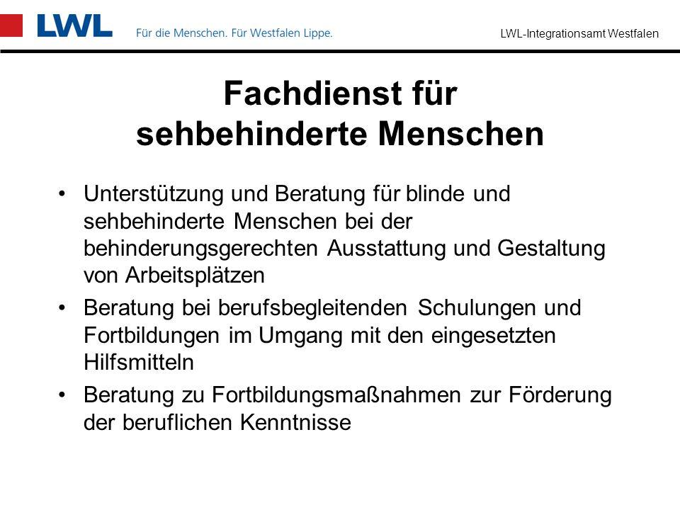 LWL-Integrationsamt Westfalen Fachdienst für hörbehinderte Menschen Beratung von gehörlosen, ertaubten und schwerhörigen Arbeitnehmer/innen Beratung b