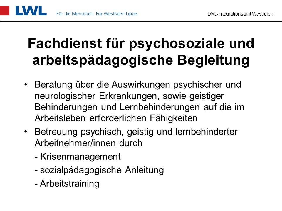 LWL-Integrationsamt Westfalen Fachdienst für sehbehinderte Menschen Unterstützung und Beratung für blinde und sehbehinderte Menschen bei der behinderu