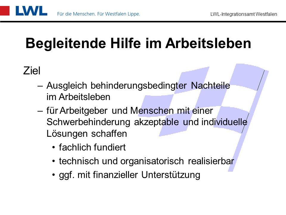 LWL-Integrationsamt Westfalen Fachdienst für betriebliche Suchtprävention Beratung von Arbeitgebern, Betriebs-/Personalräten und Schwerbehindertenvert