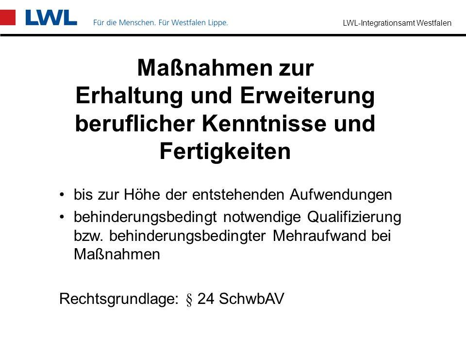 LWL-Integrationsamt Westfalen Arbeitsassistenz Hilfstätigkeit, um die geschuldete Arbeitsaufgabe erfüllen zu können nicht nur gelegentliche Handreichu