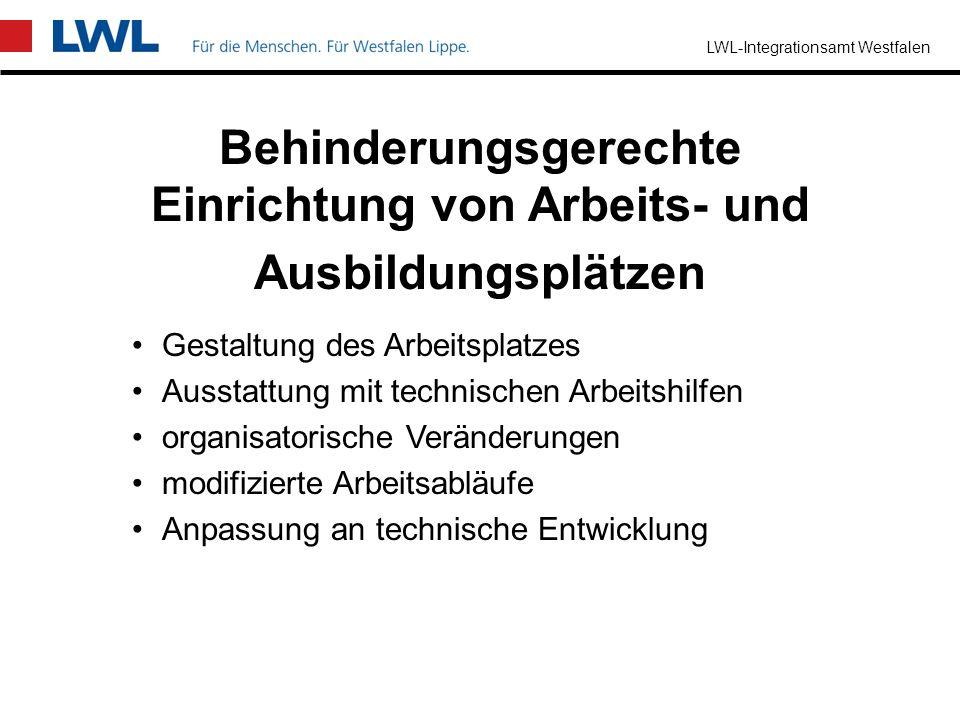 LWL-Integrationsamt Westfalen Einstellung von schwerbehinderten Menschen im Anschluss an eine Werkstattbeschäftigung zur Abwendung einer sonst drohend
