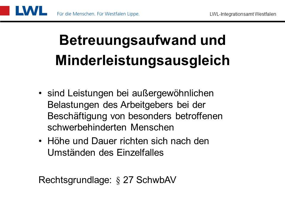 LWL-Integrationsamt Westfalen Zuschuss oder Darlehen bis zur Höhe der notwendigen Kosten unter Berücksichtigung der Umstände des Einzelfalls Rechtsgru