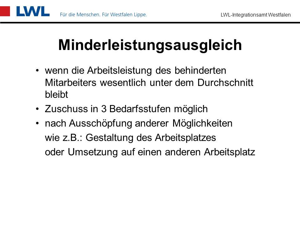 LWL-Integrationsamt Westfalen Übernahme von Personalkosten in Höhe des Zeitaufwandes für einen Mitarbeiter oder eine externe Fachkraft zur Unterstützu