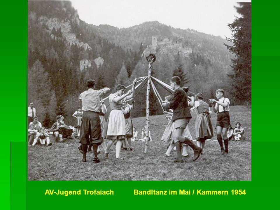 AV-Jugend Trofaiach Bandltanz im Mai / Kammern 1954
