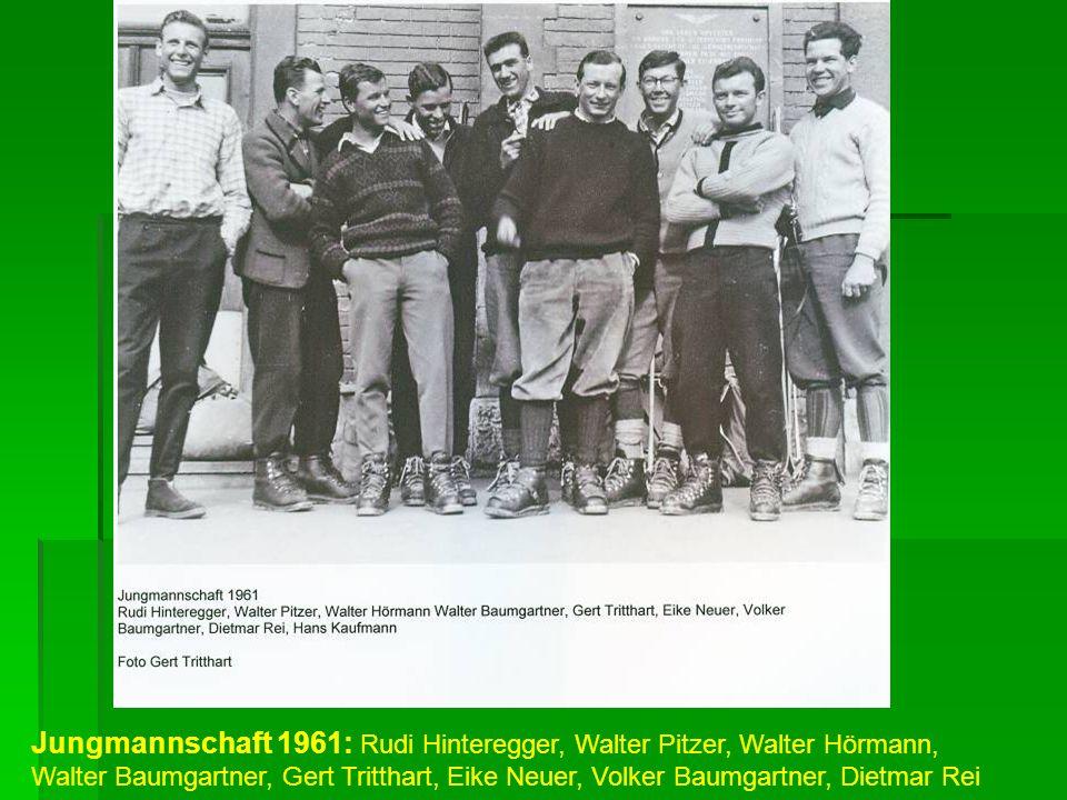 Jungmannschaft 1961: Rudi Hinteregger, Walter Pitzer, Walter Hörmann, Walter Baumgartner, Gert Tritthart, Eike Neuer, Volker Baumgartner, Dietmar Rei