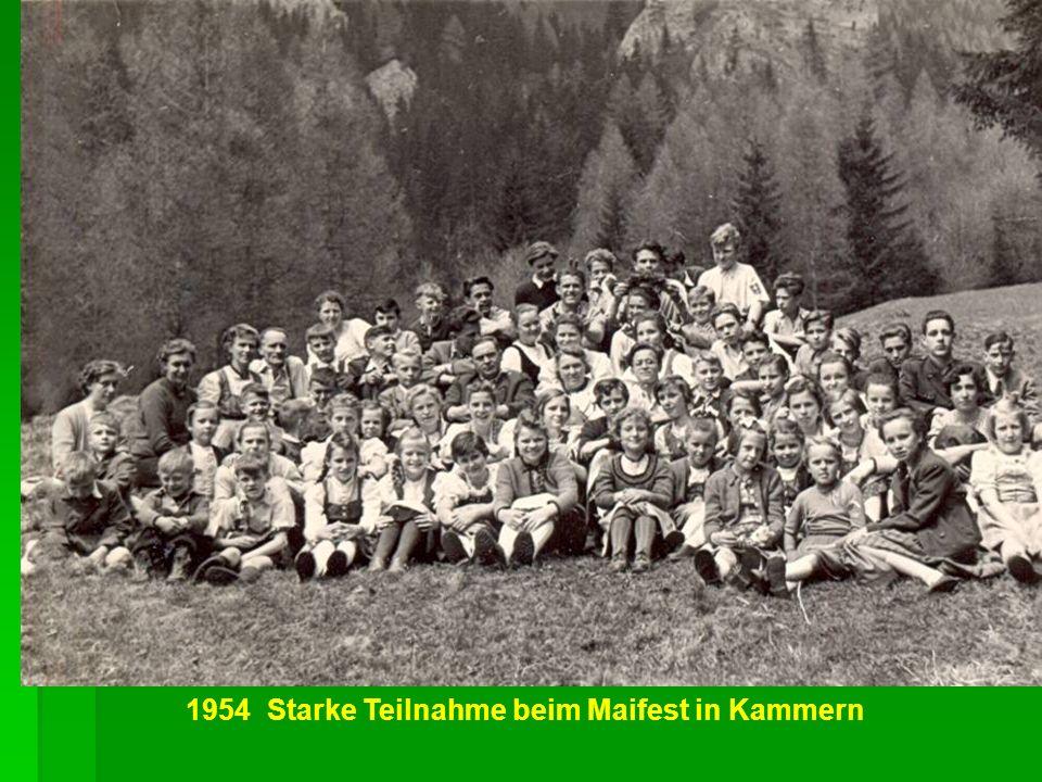AV Jugend auf dem Präbichl 1956 Silvesterlager 1957 Sabathihütte