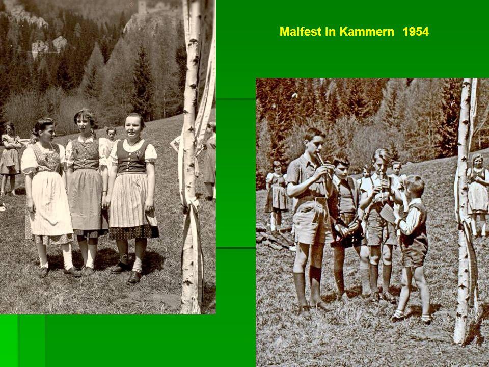 Maifest in Kammern 1954