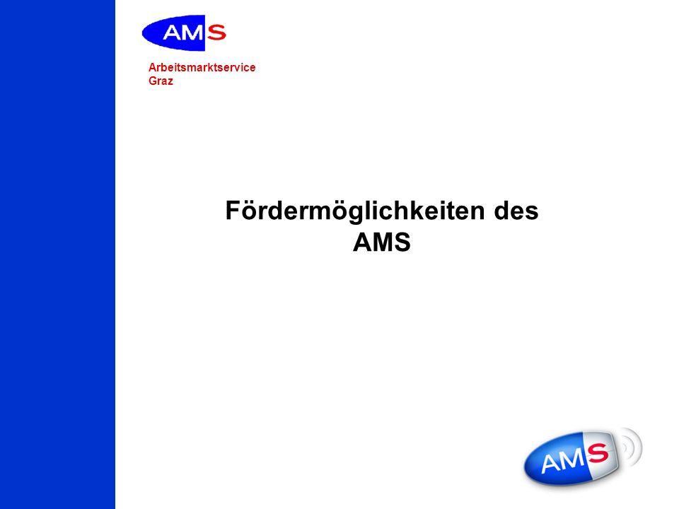 Arbeitsmarktservice Graz Fördermöglichkeiten des AMS