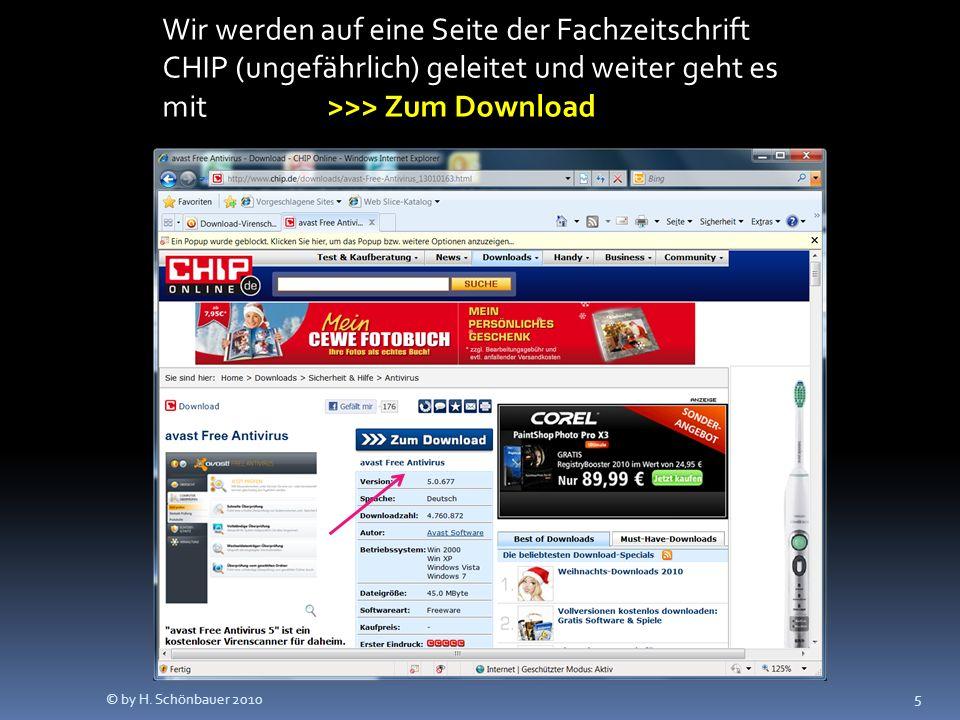 5 Wir werden auf eine Seite der Fachzeitschrift CHIP (ungefährlich) geleitet und weiter geht es mit >>> Zum Download © by H.