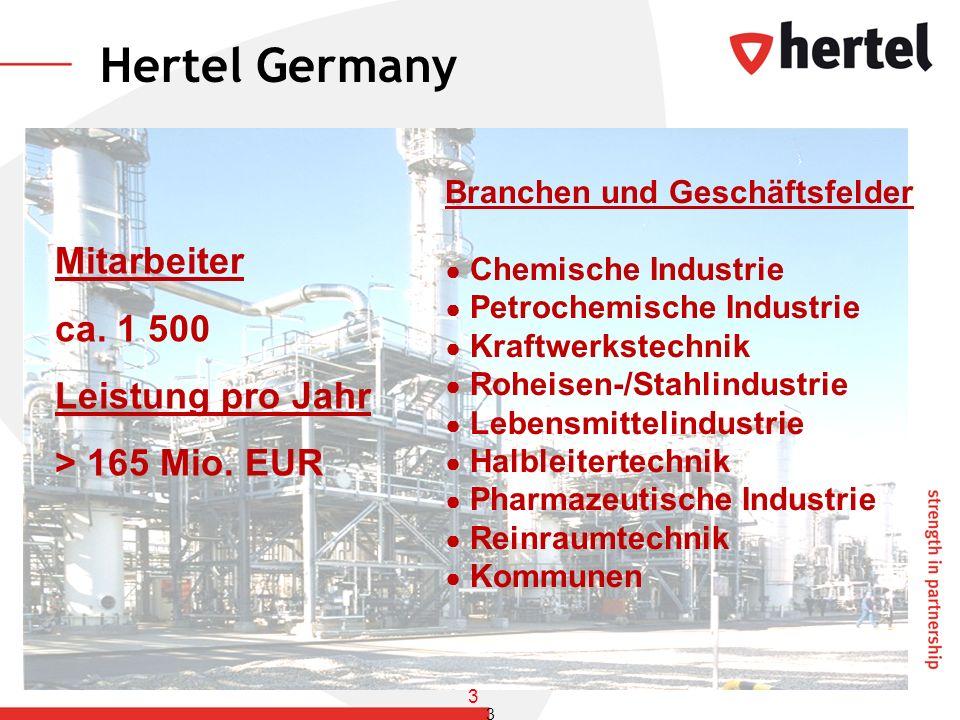 Branchen und Geschäftsfelder Chemische Industrie Petrochemische Industrie Kraftwerkstechnik Roheisen-/Stahlindustrie Lebensmittelindustrie Halbleitert