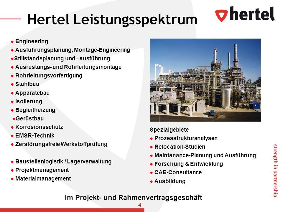 Engineering Ausführungsplanung, Montage-Engineering Stillstandsplanung und –ausführung Ausrüstungs- und Rohrleitungsmontage Rohrleitungsvorfertigung S
