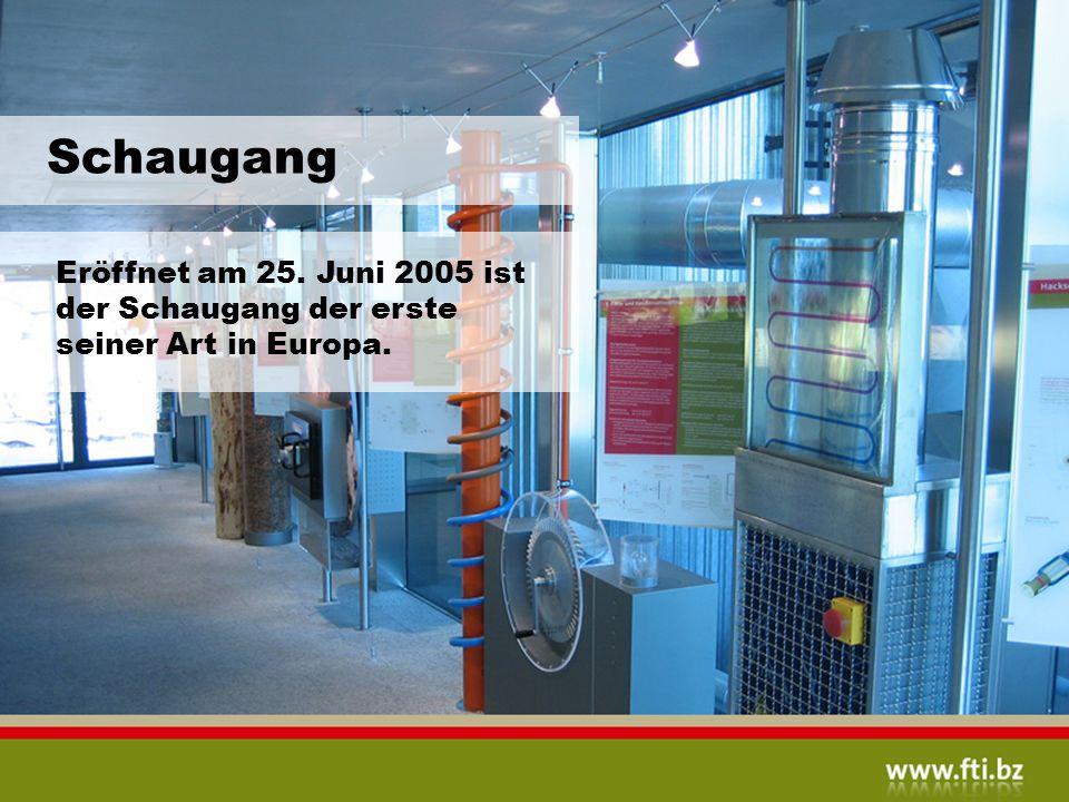 Schaugang Eröffnet am 25. Juni 2005 ist der Schaugang der erste seiner Art in Europa.