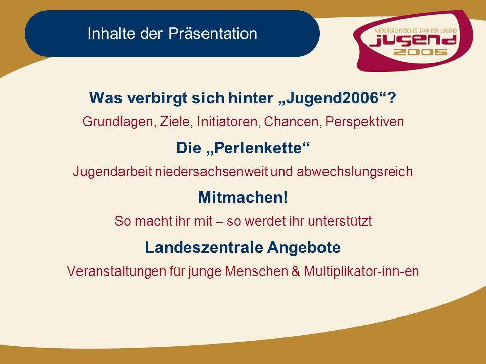 Inhalte der Präsentation Was verbirgt sich hinter Jugend2006.