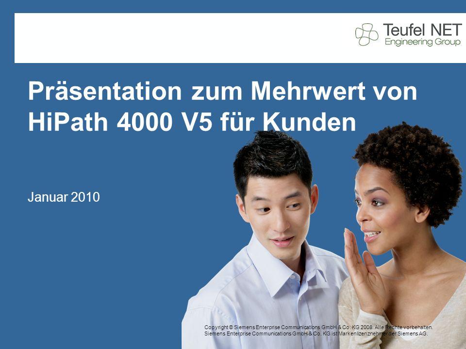Seite 22 Teufel NET Engineering Group DVND Data & Voice Networks www.teufelnet.eu Februar 09 Auszeichnungen und Stimmen der Branche im Jahr 2008 HiPath 4000 hat hervorragende Lösungen geliefert, und Kunden sind sehr zufrieden und haben dies auch öffentlich verkündet.