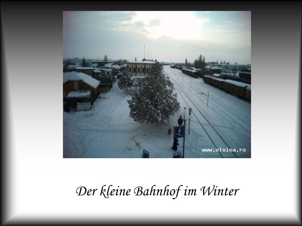 Der kleine Bahnhof im Winter