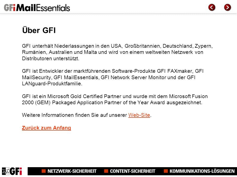 Über GFI GFI unterhält Niederlassungen in den USA, Großbritannien, Deutschland, Zypern, Rumänien, Australien und Malta und wird von einem weltweiten Netzwerk von Distributoren unterstützt.
