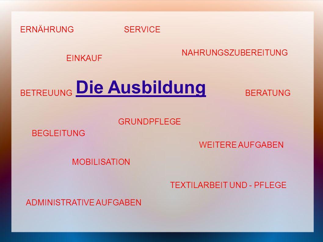 Ablauf der Ausbildung : 1.JahrKlasse 11Unterstufe: - theoretischer und praktischer Unterricht in Vollzeit 2.