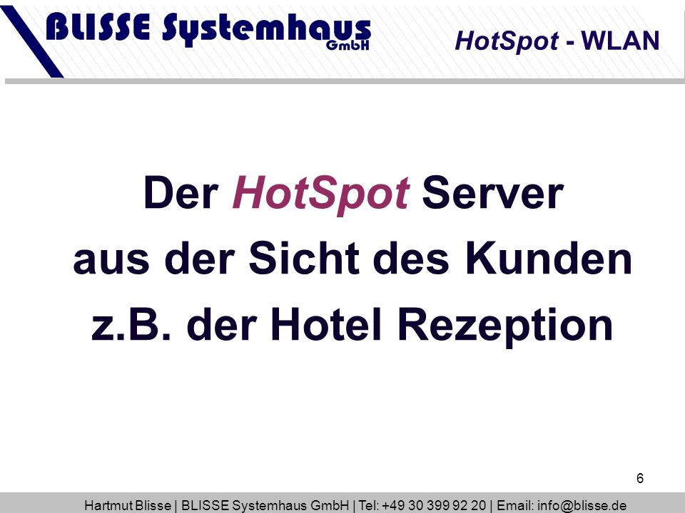 7 HotSpot Account bzw.