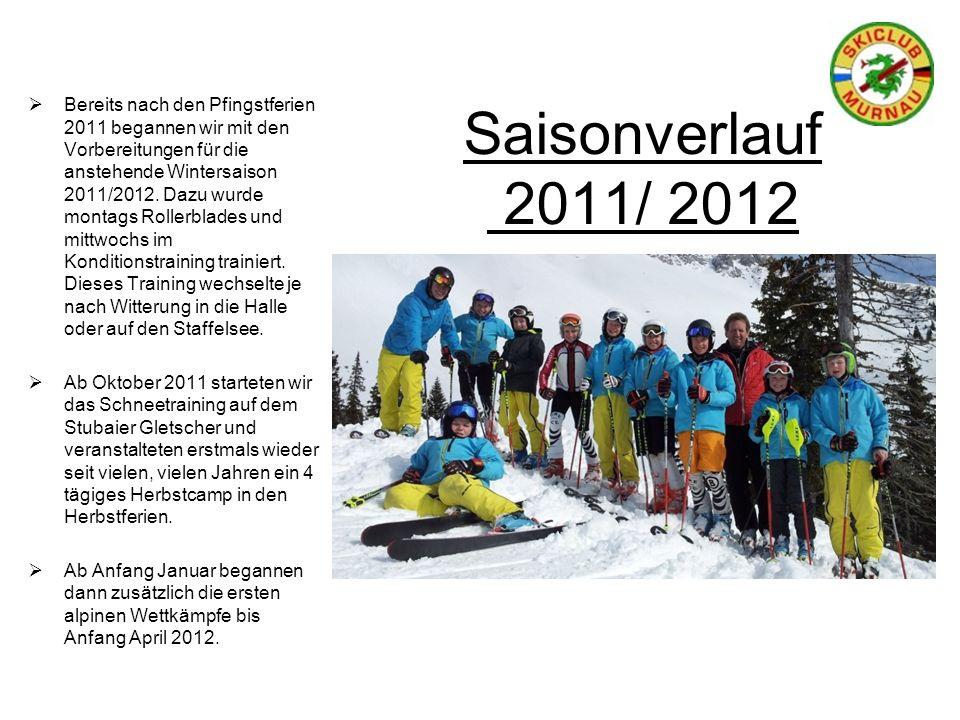 Saisonverlauf 2011/ 2012 Bereits nach den Pfingstferien 2011 begannen wir mit den Vorbereitungen für die anstehende Wintersaison 2011/2012. Dazu wurde