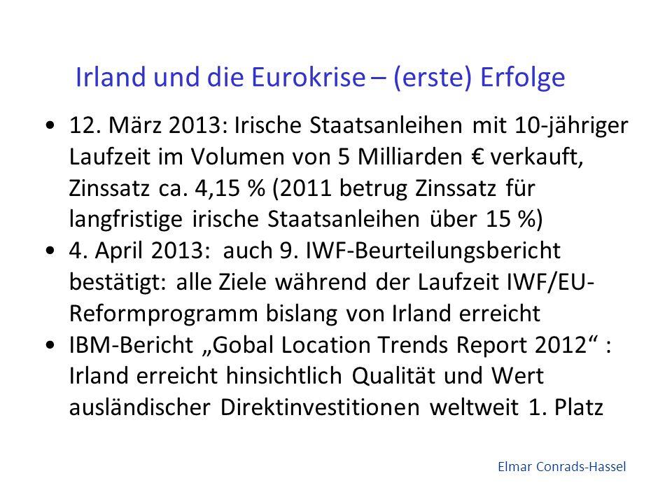 Irland und die Eurokrise – (erste) Erfolge 12.