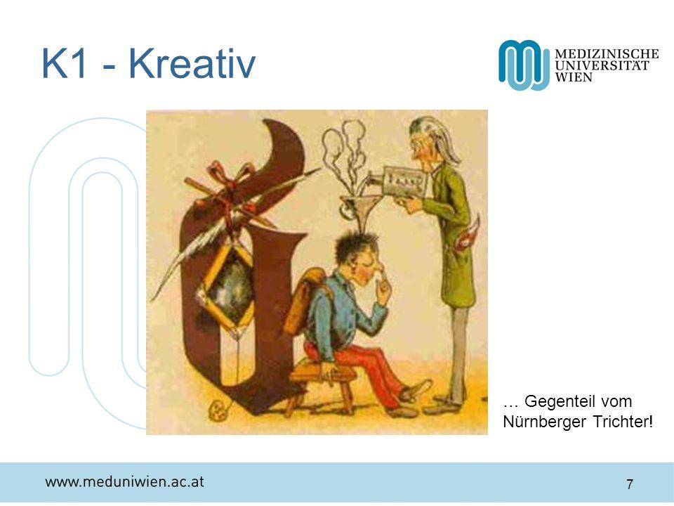 K1 - Kreativ 7 … Gegenteil vom Nürnberger Trichter!