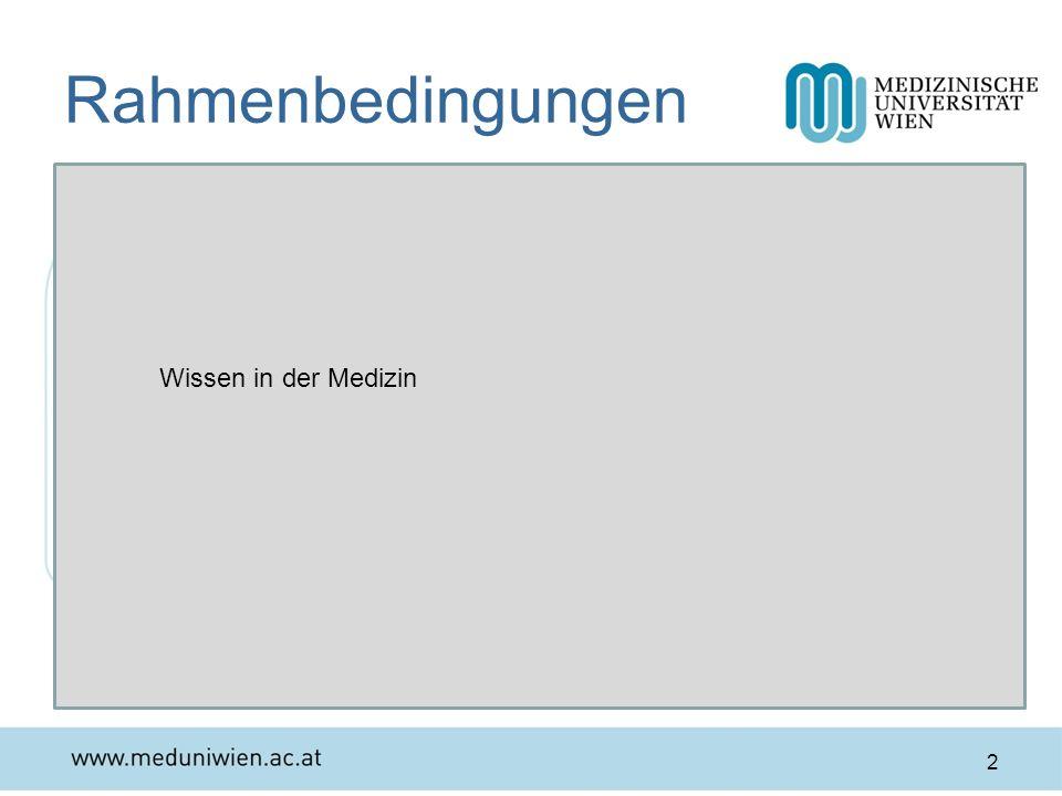 Rahmenbedingungen Wissen in der Medizin Wissen eines Facharztes/einer Fachärztin 2