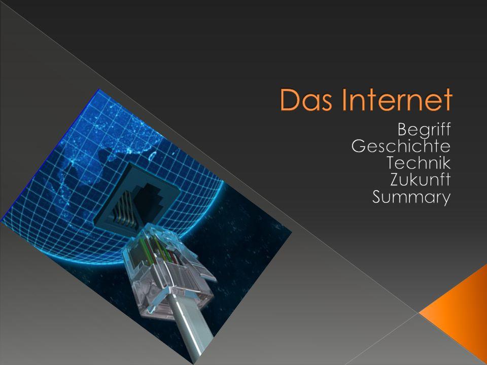 Der Begriff Internet hat sich als eigenständiges Wort etabliert und wurde aus der Beschreibung Interconnected Networks gebildet.
